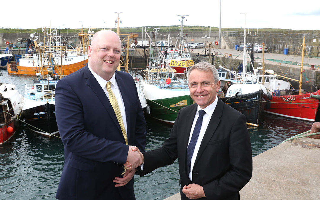 harry wick CEO nifpo - Fisheries Minister Robert Goodwill MP - Portavogie harbour